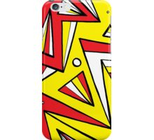 Millman Abstract Expression Yellow Red Black iPhone Case/Skin