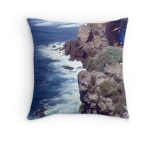Fishing From A Great Height. Cape St. Vincent. Portugal. Throw Pillow