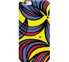 Goodrick Abstract Expression Yellow Red Blue iPhone Case/Skin