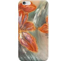 Abstract Cherryblossoms III, Stefania Silk Arts iPhone Case/Skin