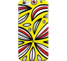Reichardt Abstract Expression Yellow Red Black iPhone Case/Skin