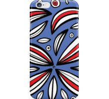Popec Abstract Expression Red Blue iPhone Case/Skin