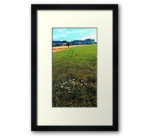 Fields, flowers and a hiking trail | landscape photography Framed Print