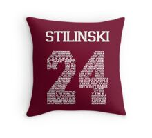 "Stiles ""Quote"" Jersey (UPDATED) Throw Pillow"