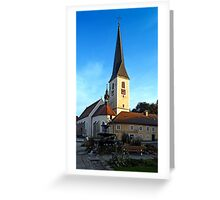 The village church of Zwettl a.d. Rodl 2 | architectural photography Greeting Card