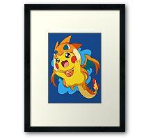 Cute Pikachu Framed Print