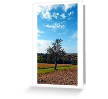 Tree in summer time with clouds | landscape photography Greeting Card