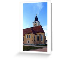 The village church of Sankt Marienkirchen 3 | architectural photography Greeting Card