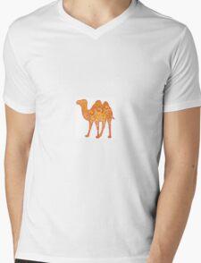 Camel in Warm Colours Mens V-Neck T-Shirt