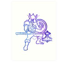 Elder scrolls - Warrior sign Art Print