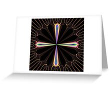 Colourful compass Greeting Card