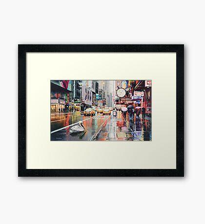 """Detour"" Pelican in New York Watercolor Framed Print"