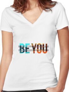 be you Women's Fitted V-Neck T-Shirt