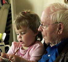 Two Years Old and Learning From Great Grandpa by Fareday