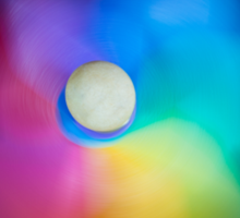 Colorful swirl Sticker