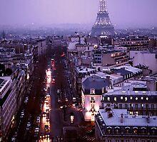 Eiffel Tower from Arc de Triumph at Dusk by Sharon McDowall