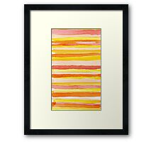Hot colors abstract lines Framed Print