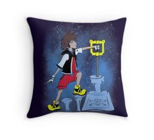 The Keyblade In The Stone Throw Pillow