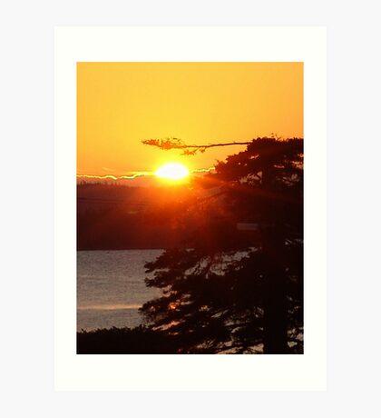 Sunrise at Black Point Art Print