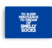To sleep Perchance to dream of smelly socks Canvas Print