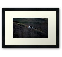 Straight Forward Framed Print