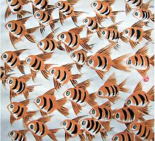 Ornament Fishes by Brushespapers
