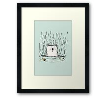 Overwhelmed Cat Framed Print