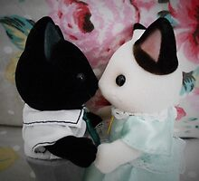 Sylvanian Families ~ Cat Couple in Love by Forever Feline