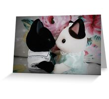 Sylvanian Families ~ Cat Couple in Love Greeting Card