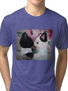 Sylvanian Families ~ Cat Couple in Love Tri-blend T-Shirt