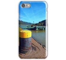 Danube river landing stage | waterscape photography iPhone Case/Skin