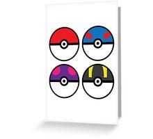 Pokeballs Greeting Card