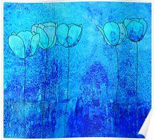 Blue Flowers II Poster