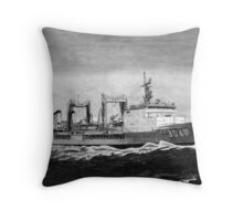 The Battle Tanker Throw Pillow