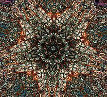 Colorful Stained Glass Window Kaleidoscope  by SaraValor