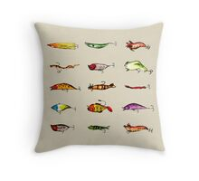 Lures Throw Pillow