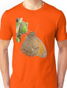 Meadow Brown Butterfly Feeding On Aphids Unisex T-Shirt