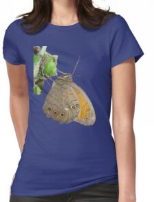 Meadow Brown Butterfly Feeding On Aphids Womens Fitted T-Shirt