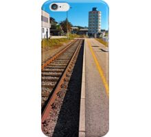 Rails into the countryside | transportation photography iPhone Case/Skin