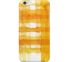 Orange and yellow watercolor lines iPhone Case/Skin