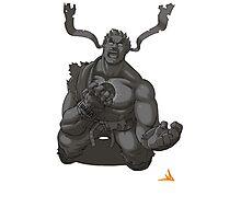 Evil Ryu Greyscale Photographic Print