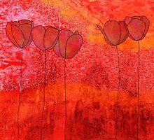 Red Flowers II by jripleyfagence
