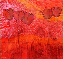 Red Flowers II Photographic Print