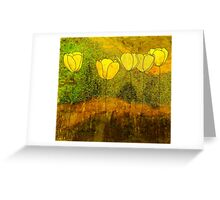 Yellow Flowers II Greeting Card