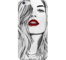 Girl with the Red Lips iPhone Case/Skin