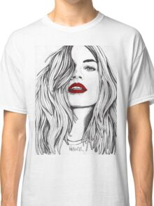 Girl with the Red Lips Classic T-Shirt