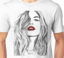 Girl with the Red Lips Unisex T-Shirt