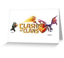Clash of Clans Logo Art Greeting Card