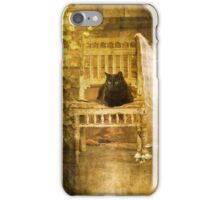 Cat On The Porch iPhone Case/Skin