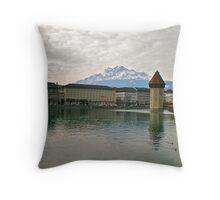 Luzern Water Mill Throw Pillow